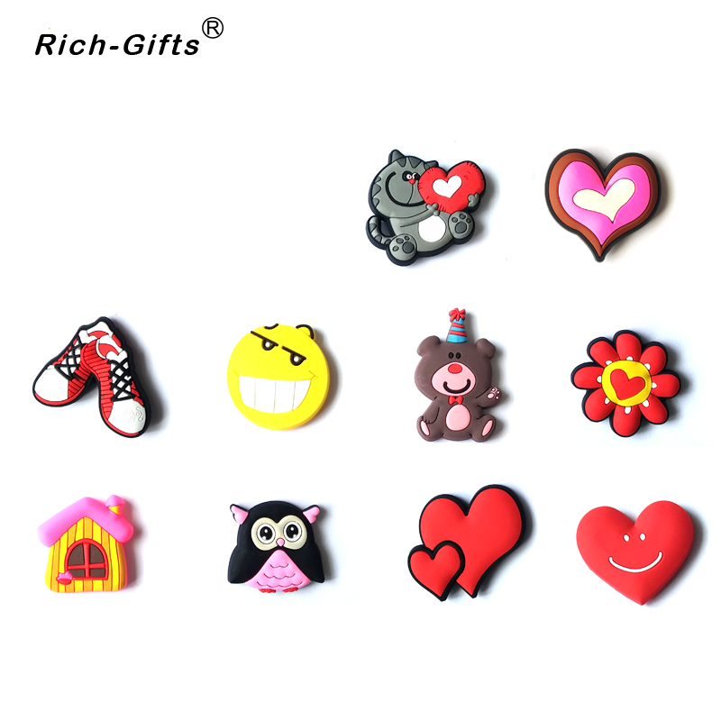 Valentines day custom love logo cartoon soft rubber promotional gifts for refrigerator magnets decoration stickersrc re 005 in fridge magnets from home