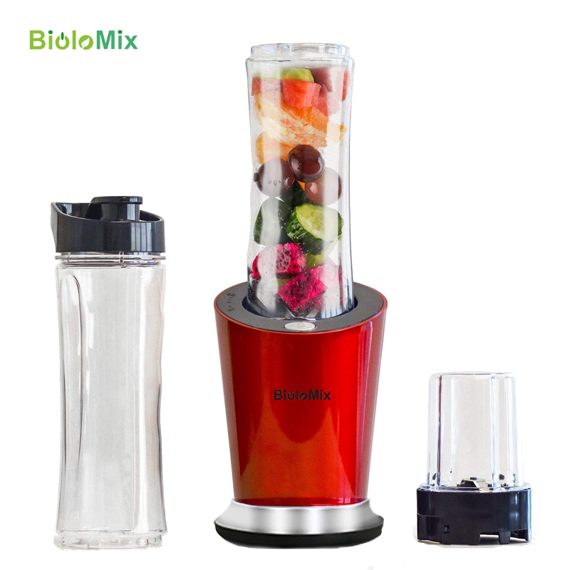 BPA FREE 300W Portable Personal Mini Blender Food Processor Milkshakes Mixer Juicer 600ml Bottle 400ml Cup & 100ml grinder