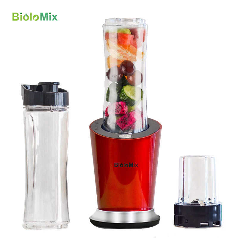 BPA LIBERO 300W Portatile Mini Personale di Frullati Frullatore Robot da Cucina Spremiagrumi Mixer 600ml Bottiglia di 400ml Tazza e 100ml grinder