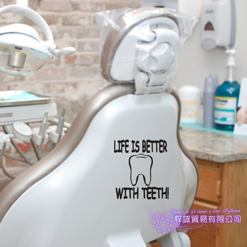 Dental Clinic Wall Decal Vinyl Poster Wall Decals Decor Mural Orthodontics Tooth Brushing Teeth Dentistry Glass Sticker
