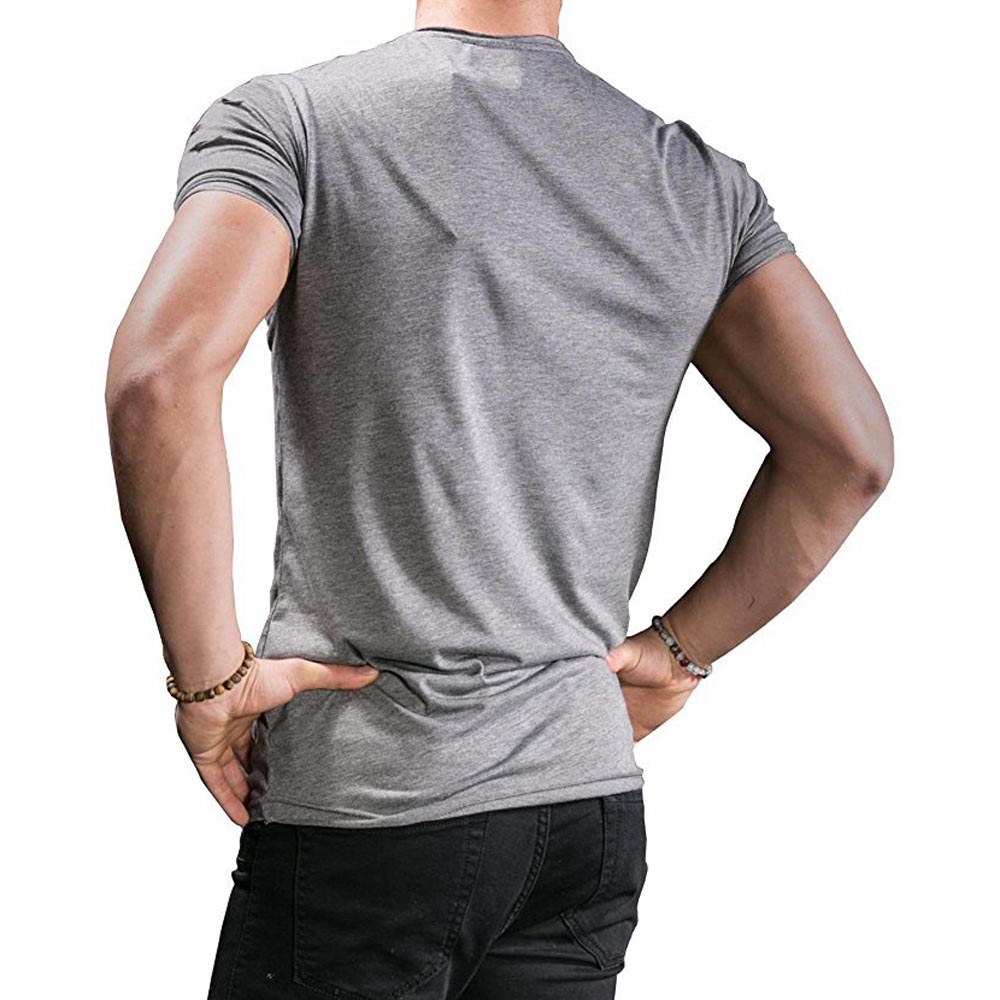 Summer Mens Fashion Cool t-särk tõmblukk augud Slim Tees brändi - Meeste riided - Foto 2