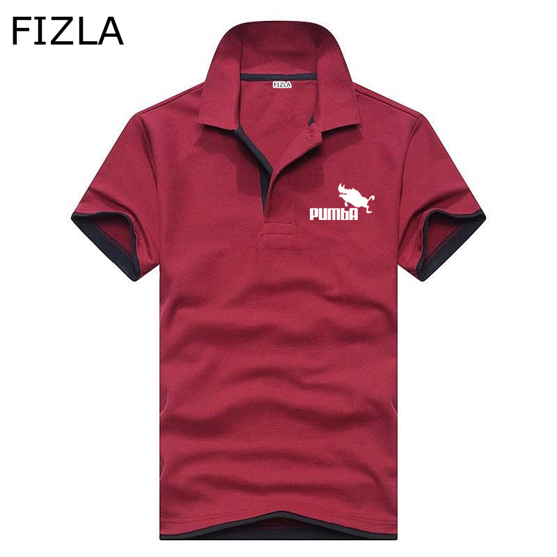 Pumba Brand clothing New Men   Polo   Shirt Men summer lapel business men   polo   shirt Short Sleeve breathable printing   polo   shirt