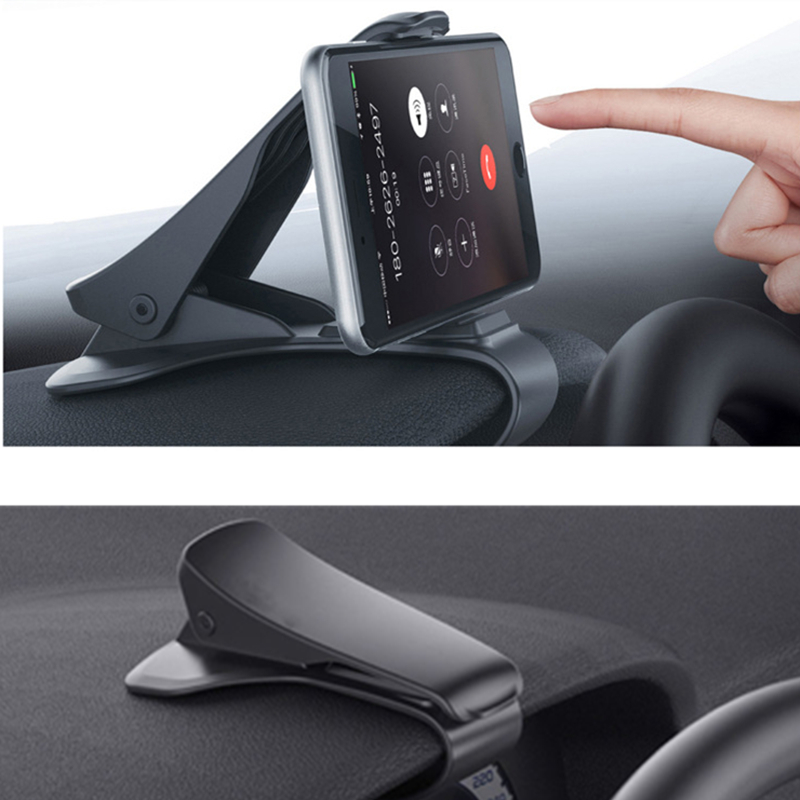 Image 5 - 6.5inch Dashboard Car Phone Holder Easy Clip Mount Stand Car Phone Holder GPS Display Bracket Classic Black Car Holder Support-in Phone Holders & Stands from Cellphones & Telecommunications