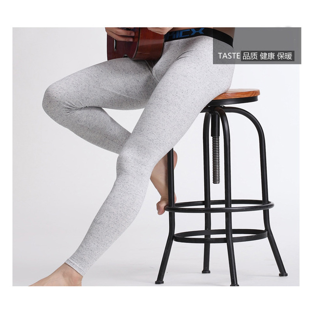 2 Pcs / Pack CIOKICX Free Shipping Men's basic Cotton Thermal Underwear Long Johns Underpants Leggings Tights 6 Colors
