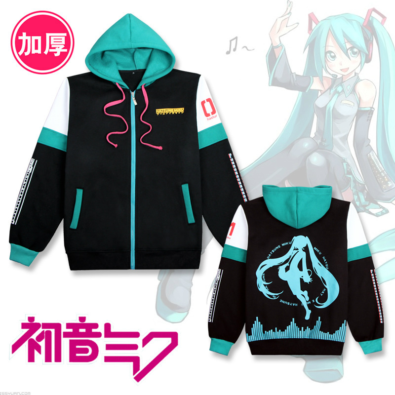 Hatsune Miku Hoody Sweatshirts Women Anime Hoodie Harajuku Japan Style Lolita Coat Outwear Female Hoodies Winter
