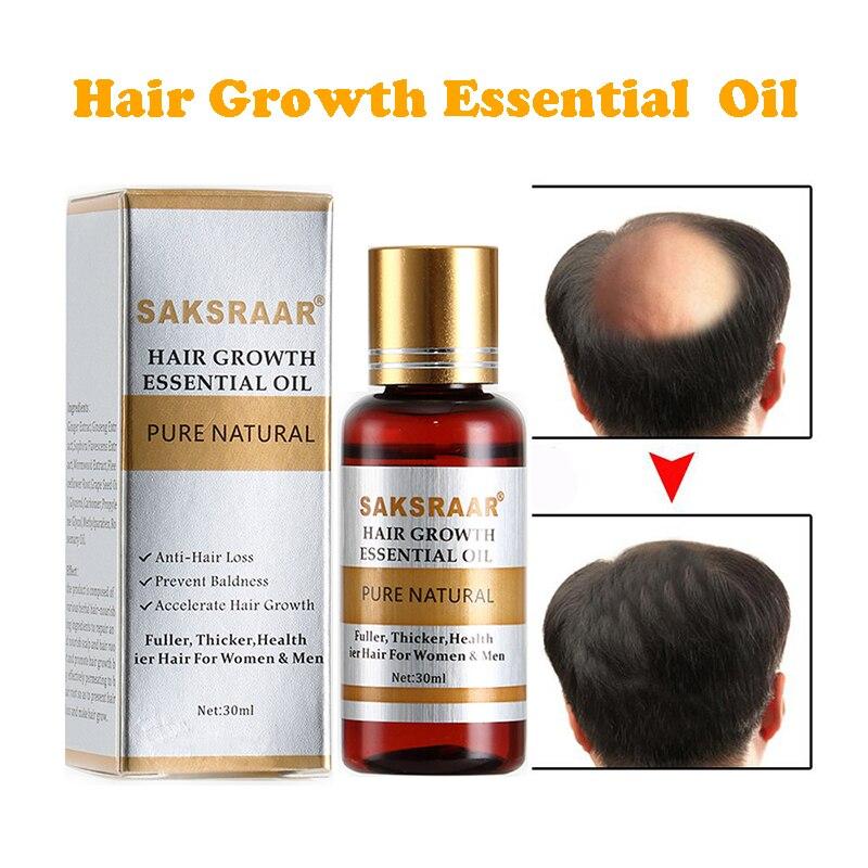 SAKSRAAR Hair Care Essential Oils Essence Authentic 100% Hair Loss Liquid Health Care