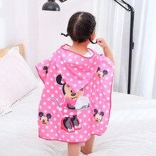 Disney, 50X100 см, детское хлопковое банное полотенце с рисунком Человека-паука и Минни, пляжное полотенце для маленьких мальчиков и девочек, накидка, полотенце, подарок