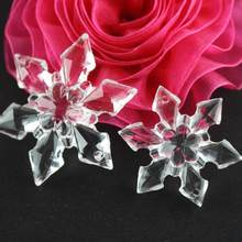 20PCS Pack Christmas Snowflake Shape Clear Crystal Acrylic Rhinestone  Flatback Cabochon DIY Decorative Craft Scrapbooking Decor 7314dc50f761