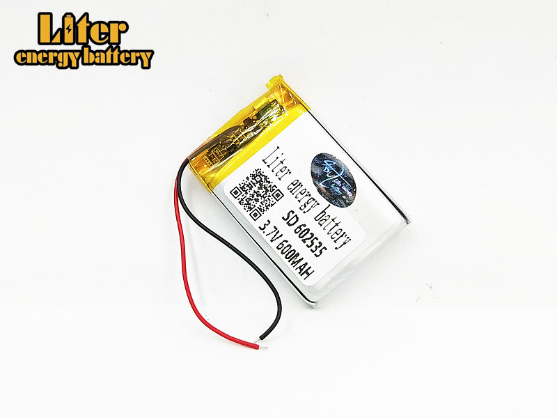 Supply lithium battery lithium polymer Rechargeable battery 602535 <font><b>600</b></font> <font><b>mah</b></font> <font><b>3.7</b></font> <font><b>V</b></font> For MP3 MP4 MP5 GPS MID Bluetooth Headset image