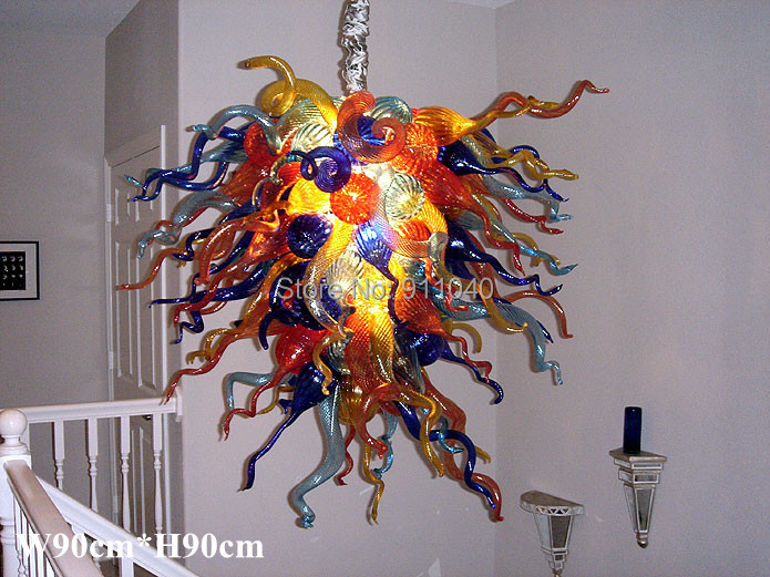 Free Shipping Colorful Art Glass Murano Chandelier Contemporary