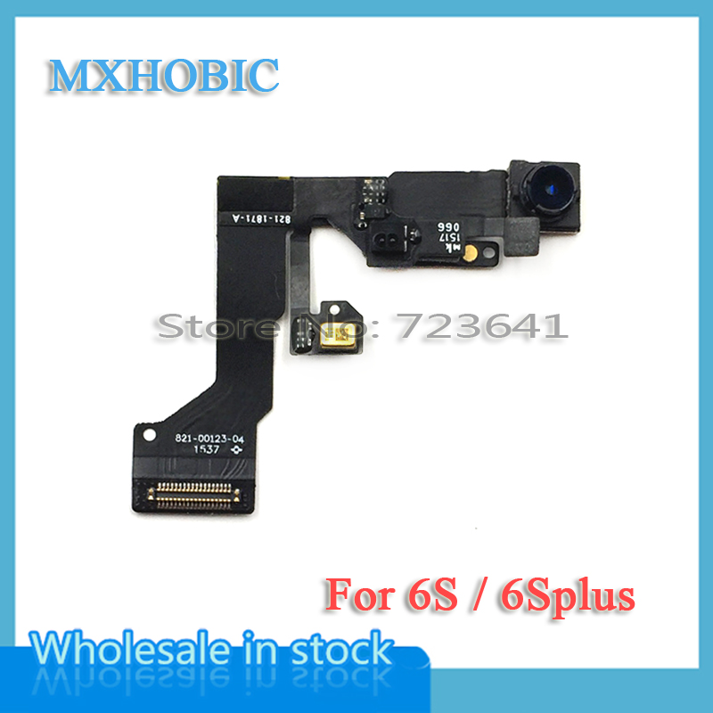 MXHOBIC 50pcs lot Small Front Facing Camera for iPhone 6S Plus 4 7 5 5 Light