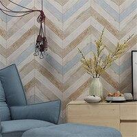 Beibehang Wood Wallpaper Nostalgic Mediterranean TV Background Wall Bedroom Living Room Dining Room Wallpaper Papel De