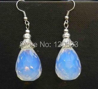 Beautiful 12x16mm SriLanka White Moonstone Teardrop Beads Earring AAA Silver hook wholesale 4pcs 2[pair] earrings