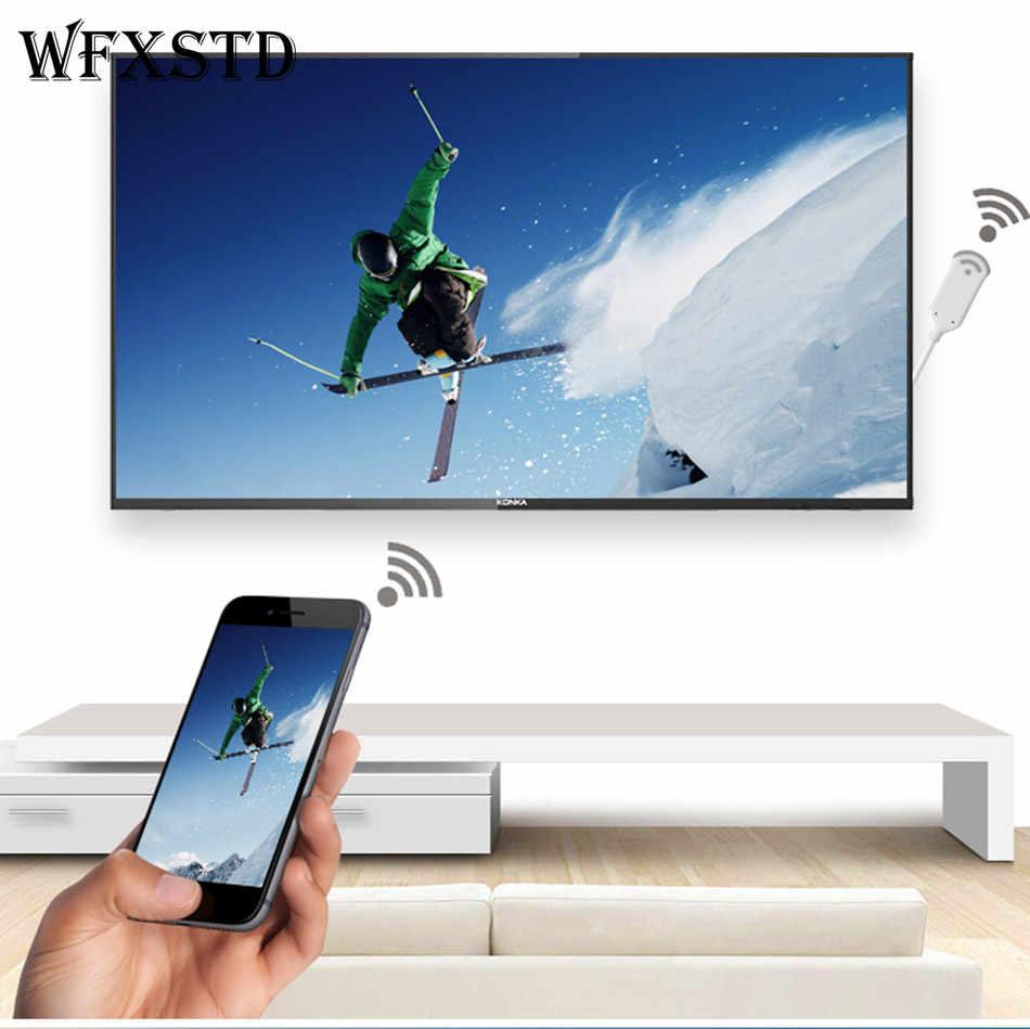 WFXSTD Новый WI-FI Экран приемник телефона Экран к HDMI кабель для передачи данных для iPhone 6/6 S/6 Plus/7/7 plus iPad Android оконные рамы HDMI HDTV