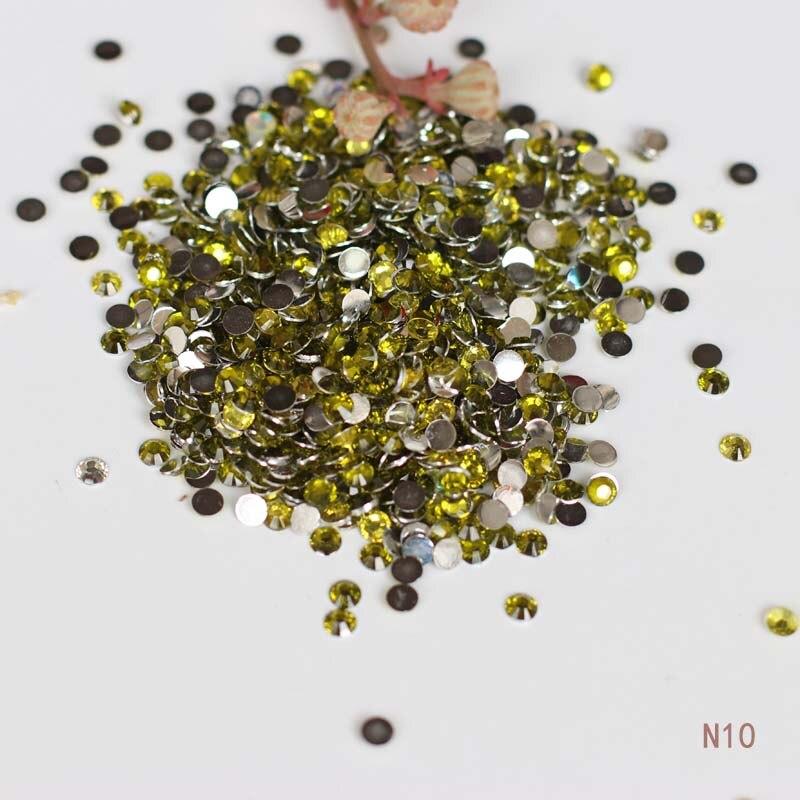 1000ks 5mm žlutý nehty drahokamu akrylové ploché 3D nehty mobilní krásy DIY dekorativní materiály N10