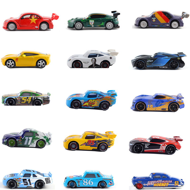 Cars Disney Pixar Cars 3 Lightning McQueen Metal Diecast Toy Car 1:55 Loose Brand New In Stock Car2 & Car3
