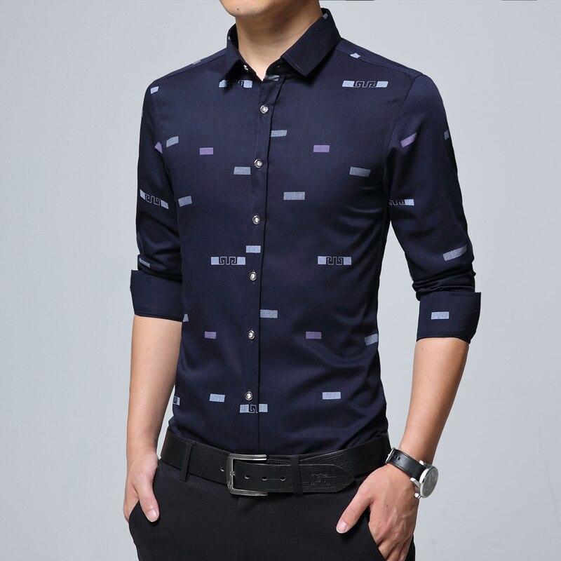 New Men Casual Shirts Fashion Print  1