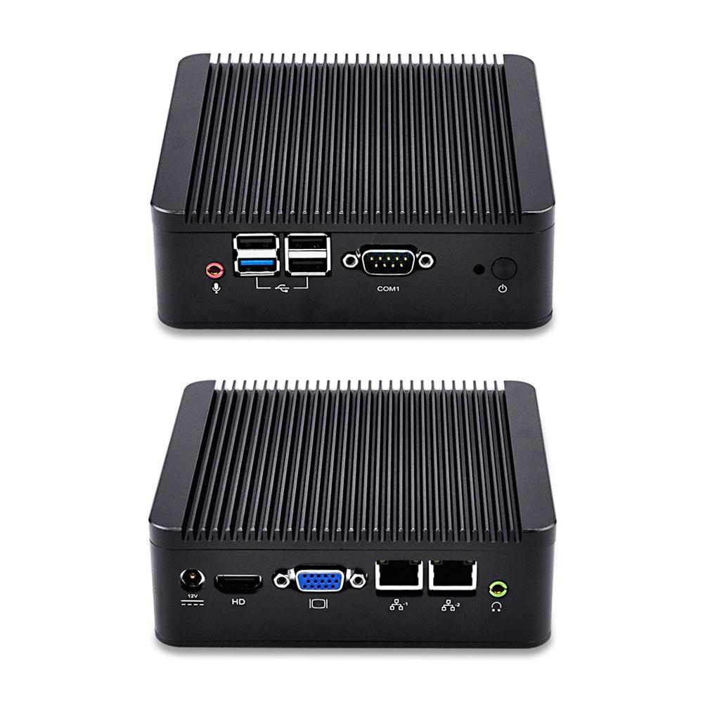 Qotom-Q190S-S02 Mini Desktop PC Celeron Processor Quad Core J1900 CPU Dual Ethernet 1000Mbps LAN Cheap PC Computer USB Stick PC