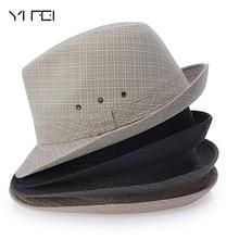 Summer Men Straw Fedora Hats Chapeu Masculino Sun Panama Tri