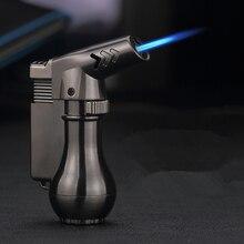 NIEUWE Portable Compact Butaan Jet Aansteker Torch Turbo Aansteker Vaste Fire Mini Spuitpistool Aansteker Winddicht Metalen 1300 C Geen gas