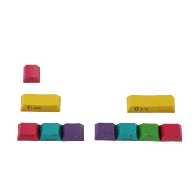 OEM Profil PBT RGBY CMYK Schlagzähmodifikatoren 10 Tasten Laser Gravierte Tastenkappen Mac Tastenkappen Für Cherry MX Mechanische Tastatur