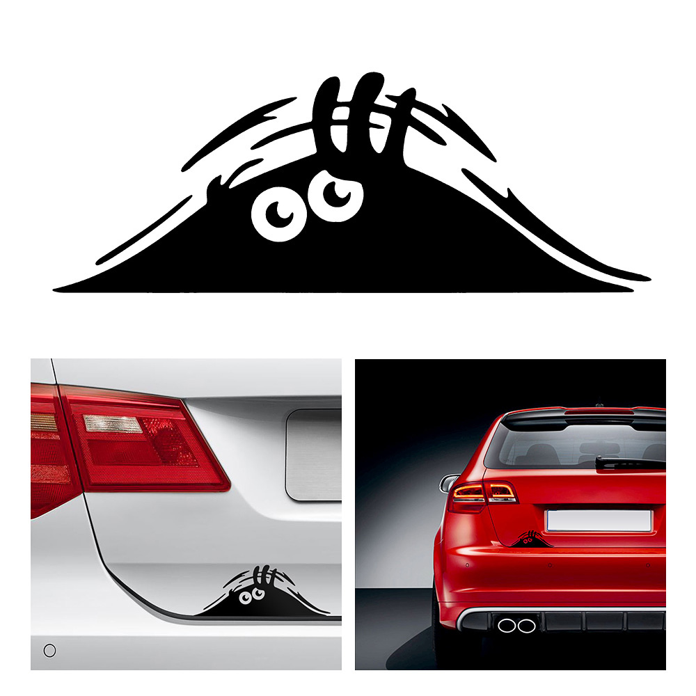 Car Styling Accessories Reflective Waterproof Fashion Funny Peeking Monster Car Sticker vinyl decal decorate Sticker rus russia country code oval jdm reflective vinyl sticker lettering car truck bumper decal motocross motorcycle aufkleber