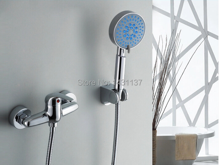 wholesale and retail high quality Brass Chrome finish Bathroom Exposed Shower Faucets Wall Mounted shower faucet set wholesale and retail chrome finish bathroom wall mounted basin sink countertop faucet