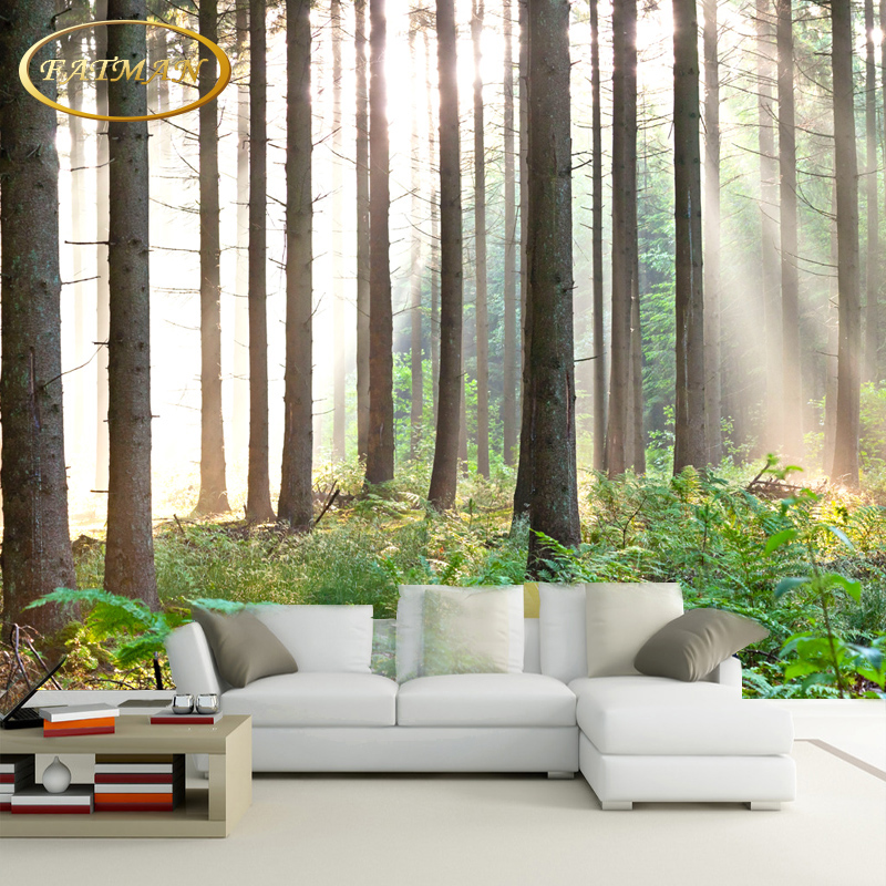Custom 3D photo wallpaper Nature trees forest wallpaper landscape mural living room lobby studio wallpaper papel de parede custom 3d photo wallpaper waterfall landscape mural wall painting papel de parede living room desktop wallpaper walls 3d modern