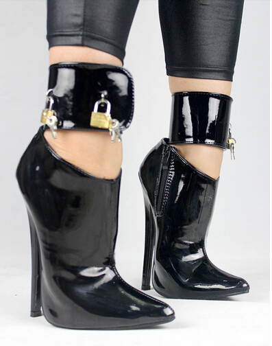 High Heel Shoes Locking Ankle Straps