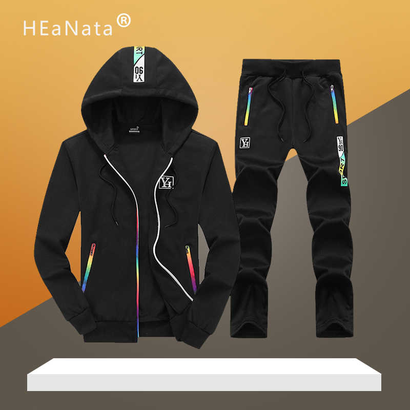 Autumn Sport Men's Sportswear Hoodies +pants Running Sets Brand Clothes Sports Joggers Training Gym Fitness Suits