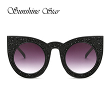 Sunshine Star Coating Diamond Sunglasses Women Sexy Cat Eye Sunglasses Men Brand Designer Mirror lunettes de soleil Gafas 400UV