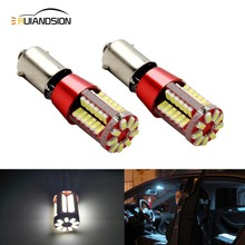 2pcs BAY9S 57 SMD 3014 Canbus lamps Error Free h21w Reverse backup parking LED bulbs interior Lights White 12V 2pcs high power canbus error free white amber ba9s t4w bax9s h6w bay9s h21w 64136 xbd 11w led lights reverse parking bulb lamps