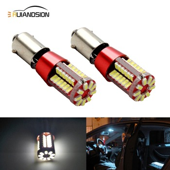 2pcs BAY9S 57 SMD 3014 Canbus lamps Error Free h21w Reverse backup parking LED bulbs interior Lights White 12V 1pcs ba9s 12 smd 5630 led canbus lamps error free t4w h6w car led bulbs interior lights car light source parking 12v white