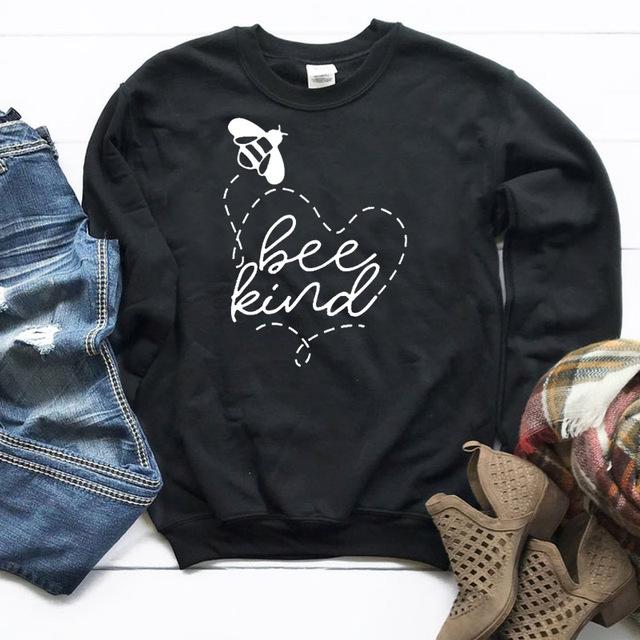 Bee Kind Printed Women's Sweatshirt