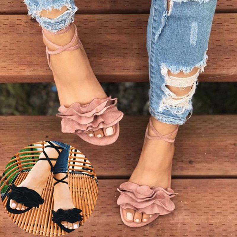2018 New Women Sandals Gladiator Casual Lace Up Flat Sandals Fashion Women Cross Tie Ankle Strap Flat Heel Summer Sandals цена 2017