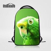 Dispalang Women S Travel Shoulder Bags Cute Parrot Print Backpack For Laptop Large Capacity School Bag
