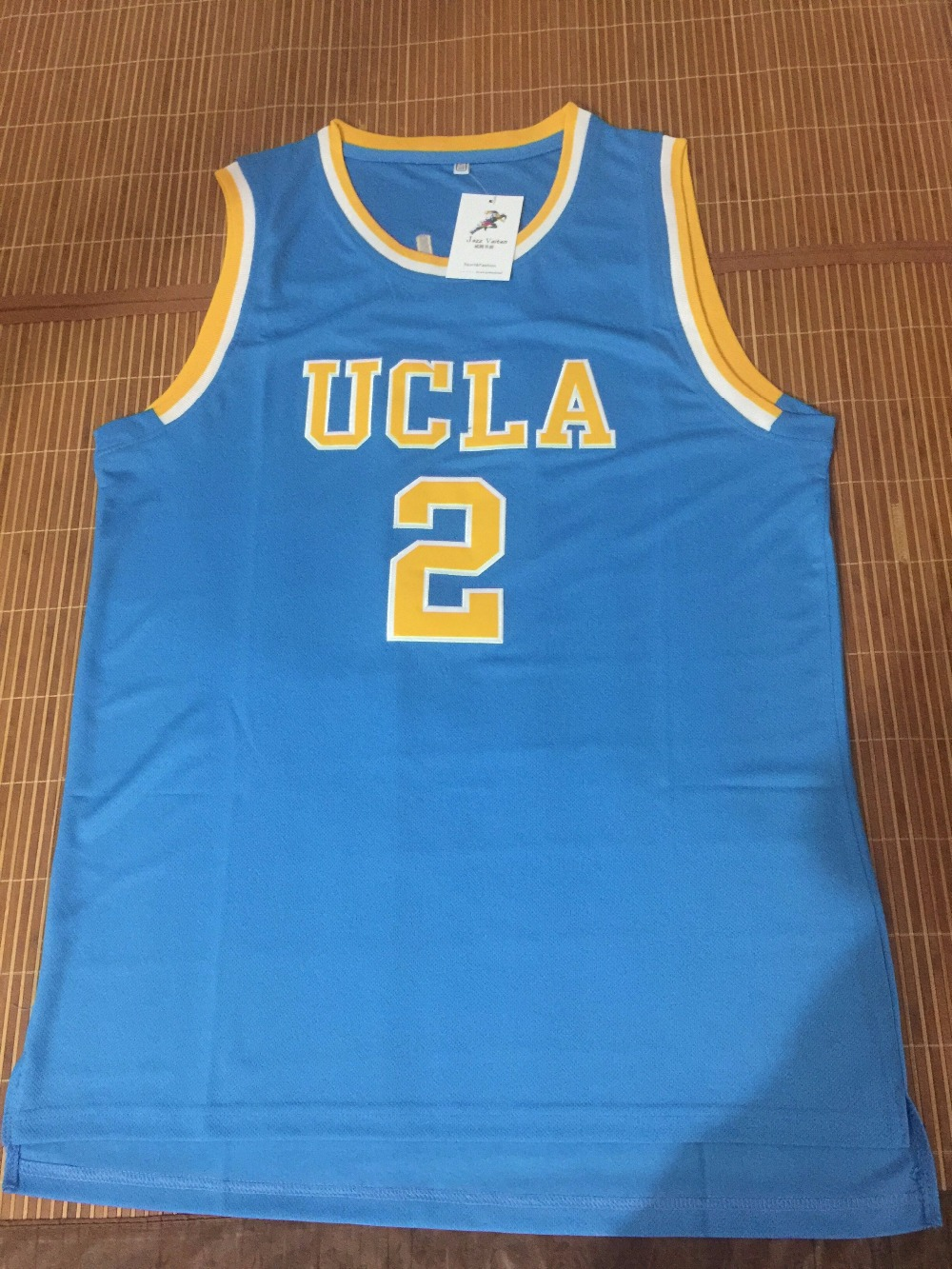 Jazz Vaiten Lonzo Ball 2 College Basketball Jerseys White Blue Colors  Throwback Men s new color new design 4a5221652
