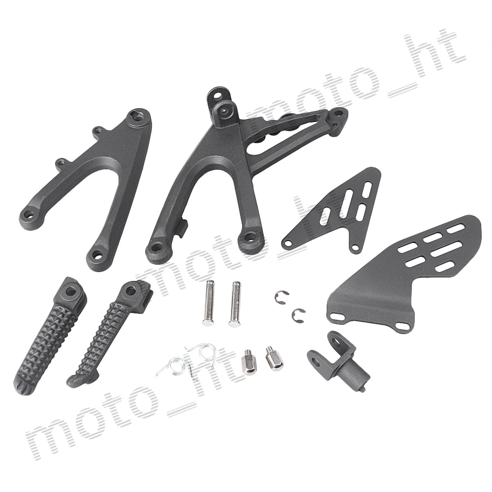 Motorcycle Rider Front Foot Pegs Footrests Kit For Yamaha YZF R1 2007 2008