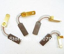 2 unids Spring & Wire Leads 3.1 x 6.3 x 16 mm Electric Motor Carbon Brushes genérico herramienta eléctrica para máquina de electroerosión por hilo husillo DC motores etc