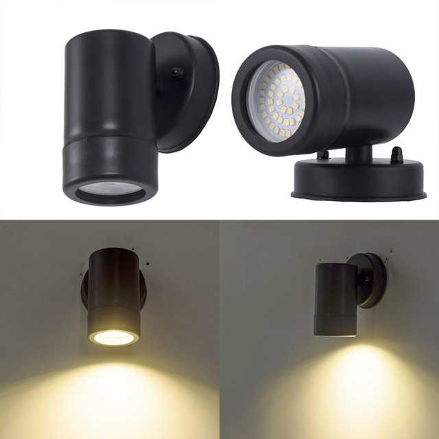 5w Wall Mounted Led Light Black Lamp Outdoor Porch Washer Lights Home Sconces
