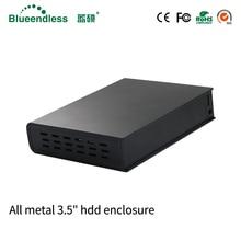 Full Enclosed 2TB 3TB Hard Disk Enclosure Hard Drive Disk Case HDD Inside USB 3.0 External Storage EU plug Hard Disk include