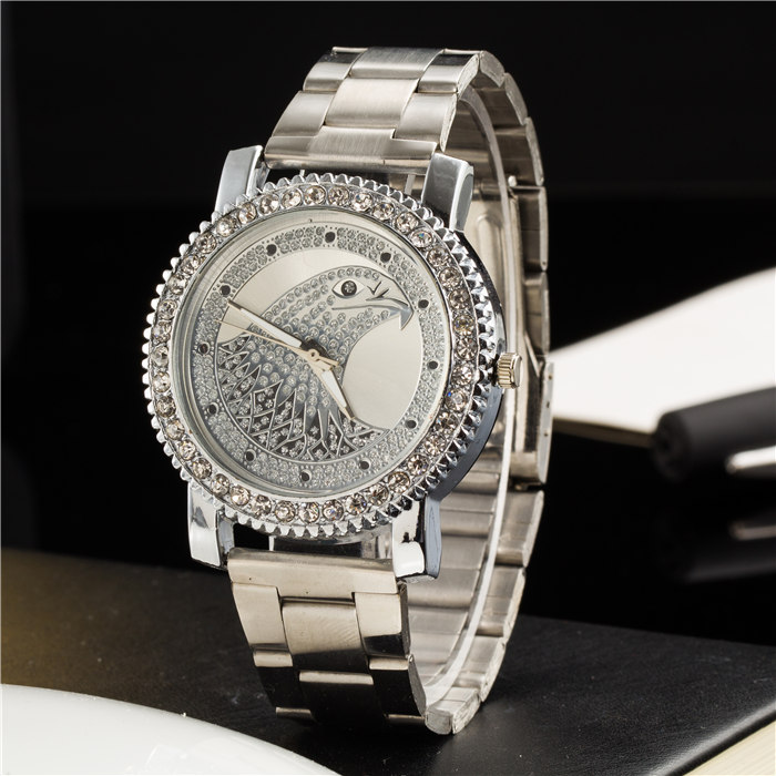 New Ybotti Famous Brand Silver Crystal Casual Quartz Watch Women Stainless Steel Watches Relogio Feminino Ladies Clock Hot Sale wristwatch new famous brand binger geneva casual quartz watch men stainless steel dress watches relogio feminino man clock hot