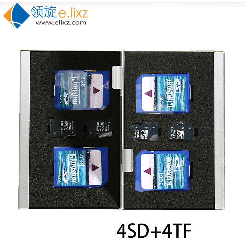 2017 Silver Red Blue Offer 8 In 1 Aluminum <font><b>Storage</b></font> Box Bag Memory Card Case Holder Wallet Large Capacity For 4* For <font><b>Sd</b></font> 4*mirco image