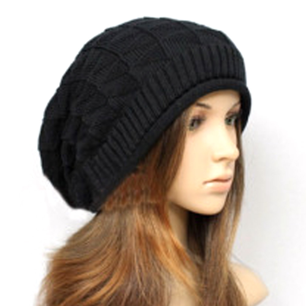 Men's Women's Knit Baggy Beanie Oversize Slouchy Winter Hat Chic Cap Solid Warm Cool Street Style Caps