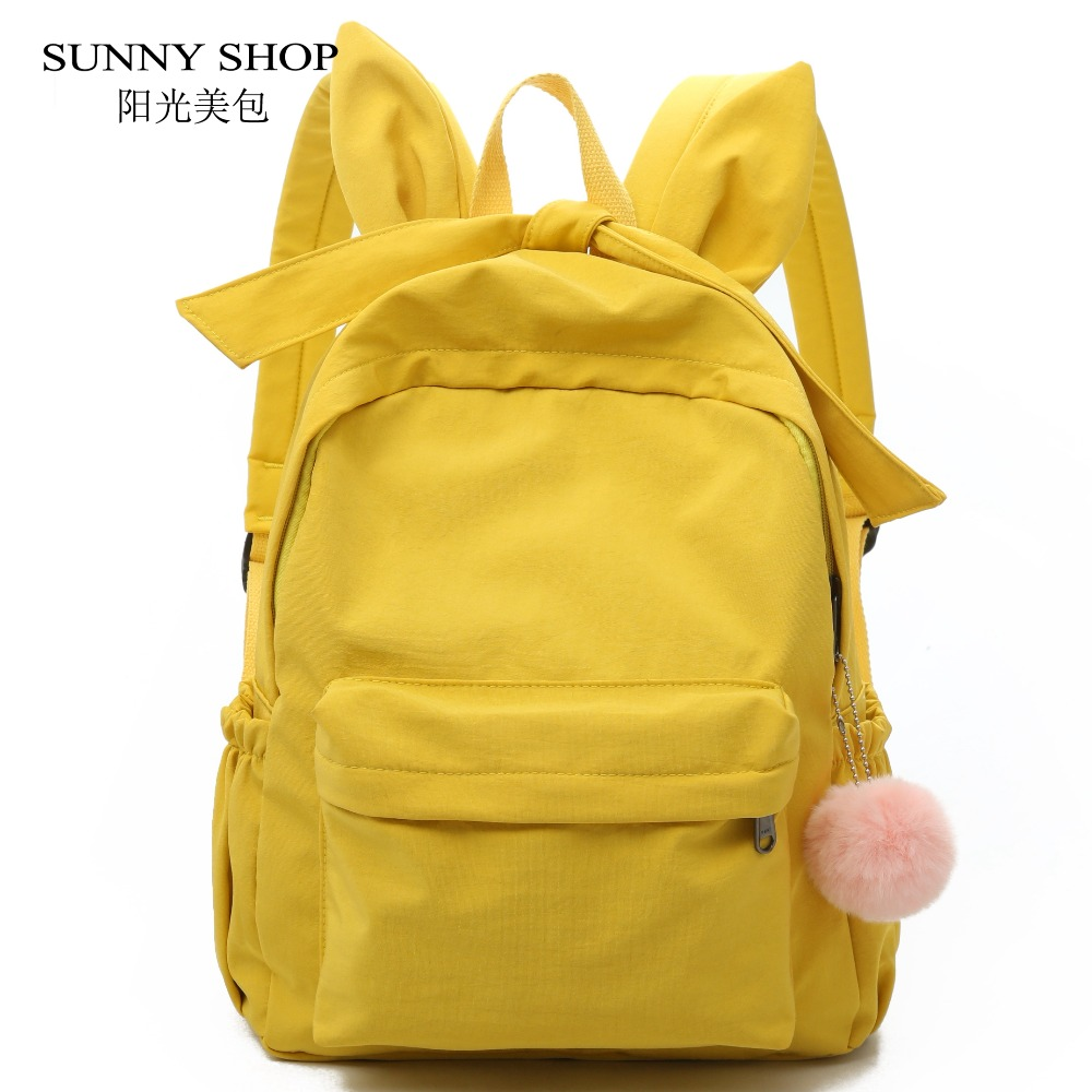 School Bags For Teenage Girls Cute Big Nylon Bagpack Female Cat Ear Kawaii Backpack 14.1 Laptop backpack A4 Book Bag Korean kawaii cinnamoroll dog japanese anime pu backpack schoolbag primary school bags teenage girls female school shoulder bag bagpack