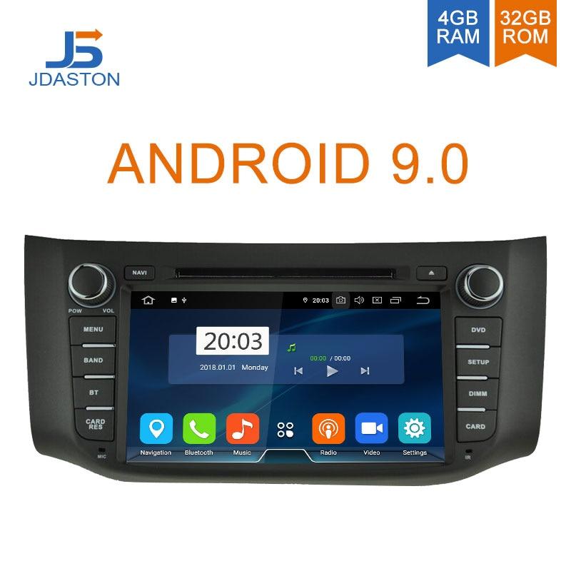JDASTON Android 9.0 Car Multimedia Player For Nissan Sylphy Sentra 2012 2016 Pulsar Audio WIFI DVD CD GPS 2 Din Car Radio Stereo