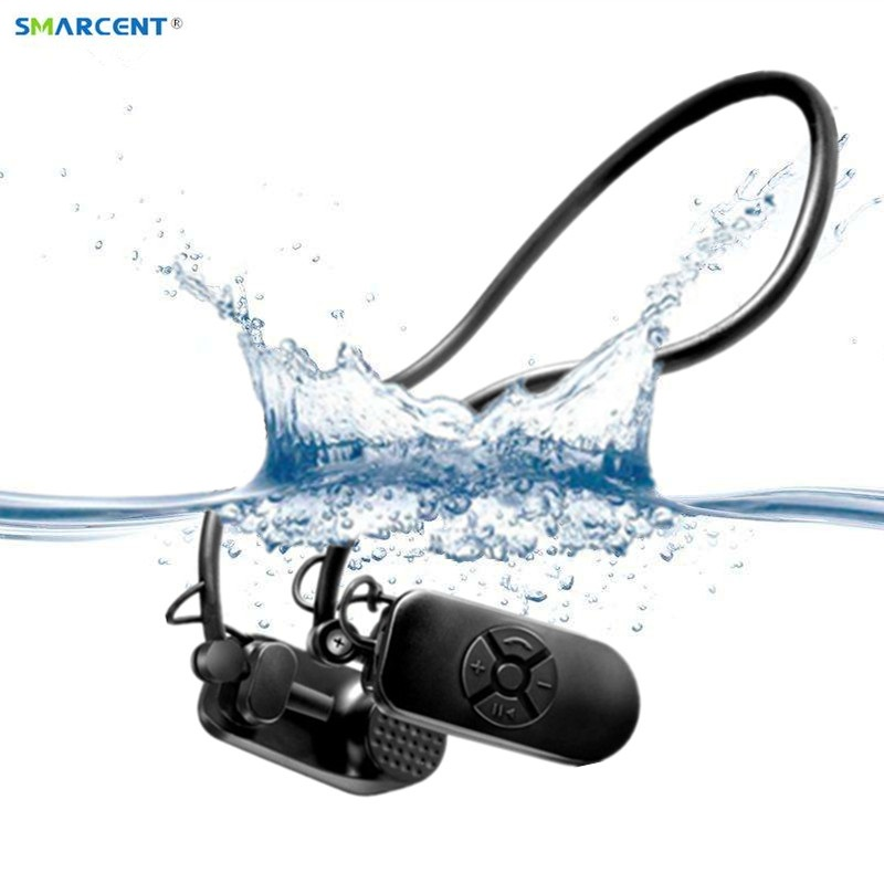 2017 New APT-X V30 Bone Conduction 4G 8G HIFI Player IPX8 Waterproof Swimming Outdoor Sport Earphones USB MP3 Music speaker