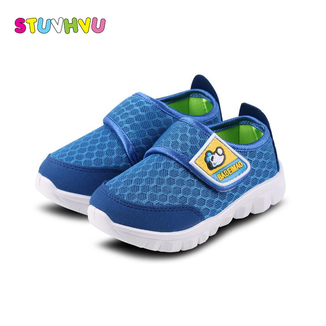 2018 New children breathable net shoes comfortable soft student sport shoes for Kids running shoes boys girls sneakers blue pink