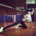 Фитнес брюки одежду тренировки для женщин женский спортивная спортивный брюки стрейч выработать одежду bodycon тренировки леггинсы T363