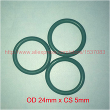 OD24mm x CS5mm green viton FKM fpm rubber-seal-ring oring o ring